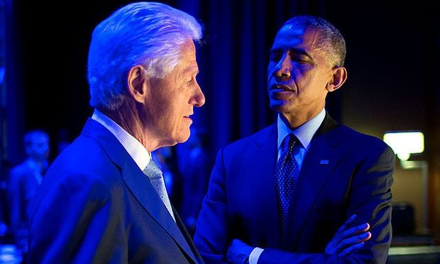 Barack Obama and Bill Clinton