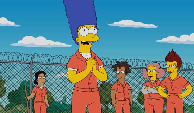 The Simpsons Marge In Jail Not Orange Is The New Black -5744