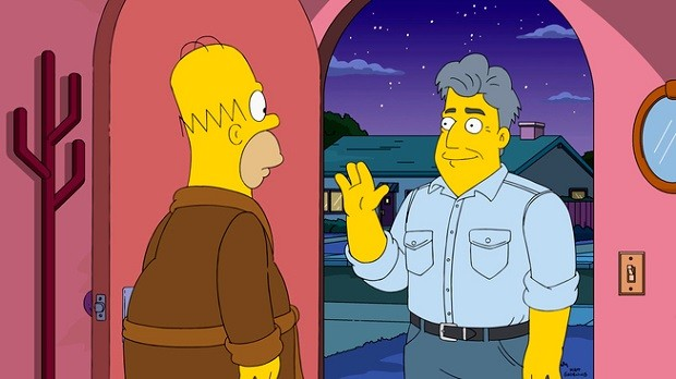 The Simpsons Jay Leno