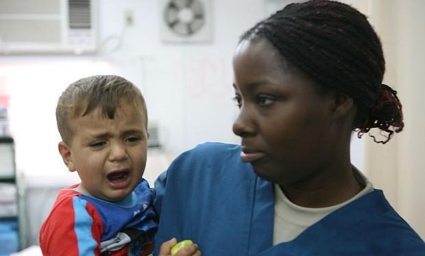 Nurse with a child