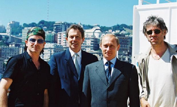 Bono, Blaire, Putin, Geldof