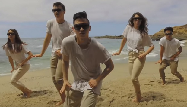 Agt miniotics dance on beach in pretty video for Reely hooked fish co