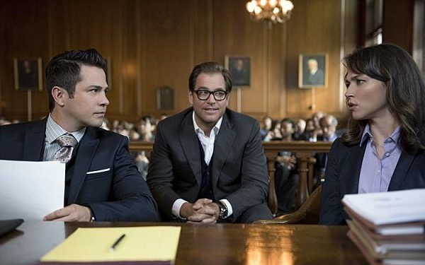 Freddy Rodriguez, Michael Weatherly, Trieste Kelly Dunn, Bull/CBS