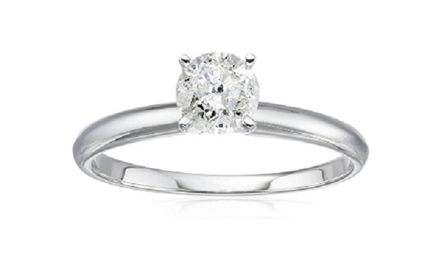 Engagement Ring Deals Amazon Includes 14K Solitaire Diamond Under