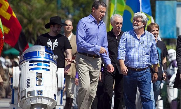 Bob Iger, George Lucas, R2D2