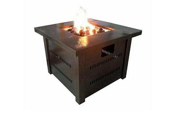 AZ Patio Heaters GS F PC Propane Fire Pit With Antique Bronze Finish