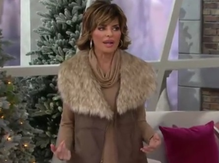 Lisa Rinna s Clothing Line on QVC Uses Faux Leather a536eb0b5dda