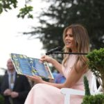 Melania Trump, who speaks five languages, reads a book to kids