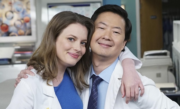 ABC/Ron Tom) GILLIAN JACOBS, KEN JEONG