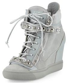 Giuseppe Zanotti for Jennifer Lopez Tiana Crystal High-Top Wedge Sneaker