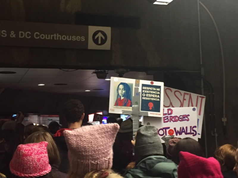 "In the DC Metro, ""Build Bridges Not Walls"" and a plea to respect dissent"