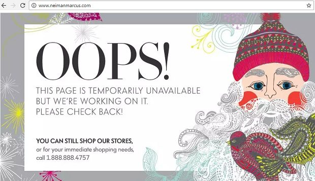 Neiman Marcus website down