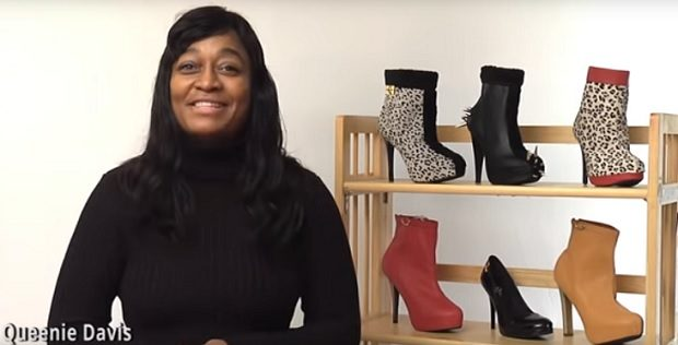 Queenie Davis selling Boot Illusions on YouTube
