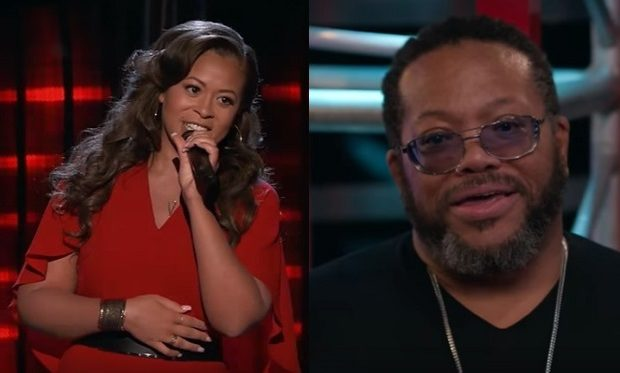 Felicia Temple and DAD The Voice NBC