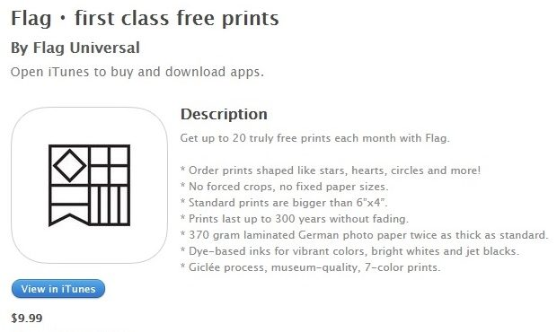 Flag PHoto app