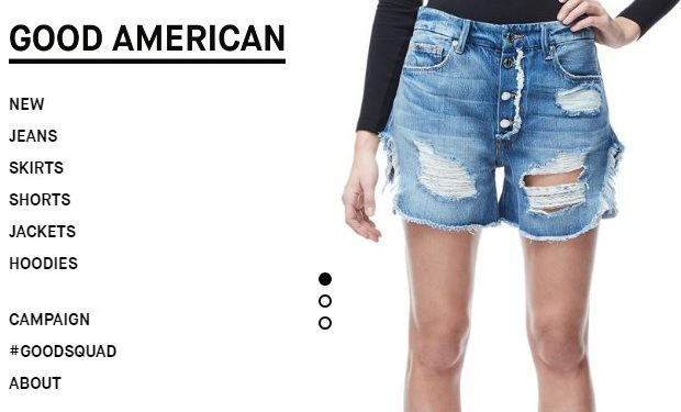 GoodAmerican shorts screengrab
