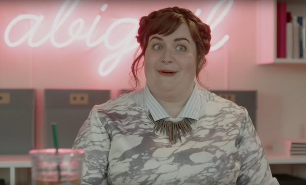 Aidy Bryant on Girls HBO screen grab