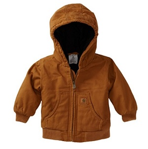 Carhartt Boys' Active Quilted Flannel Lined Jacket