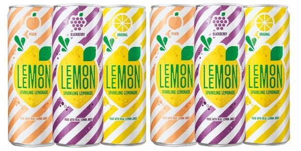 PepsiCo launches new sparkling lemonade, LEMON LEMON, in three flavors. (PRNewsfoto/PepsiCo)