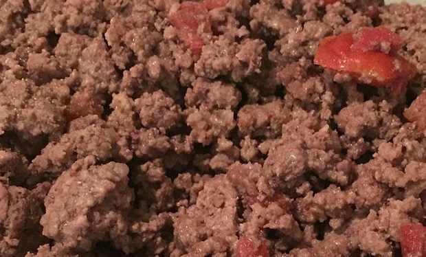 Ground beef, ready 8 minutes