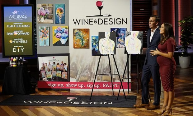 Wine design shark tank 500 000 kevin o leary deal for Paint and wine raleigh