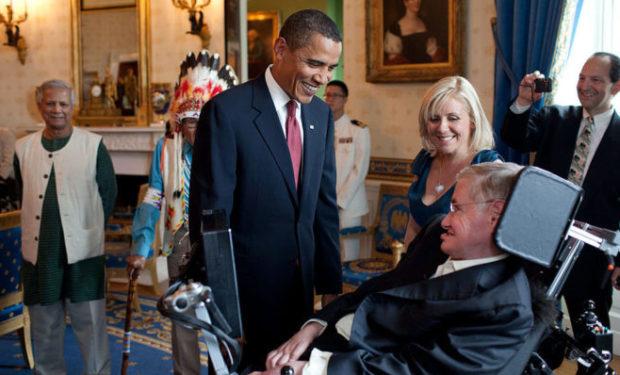 Obama Hawking