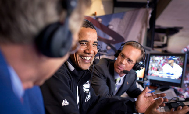 Joe Buck and Barack Obama