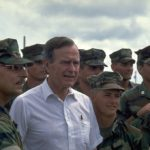 Pres. George Bush after Hurricane Andrew 1992
