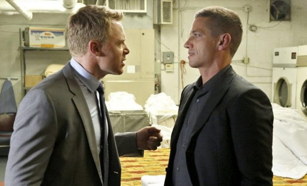(l-r) Diego Klattenhoff as Donald Ressler, James Carpinello as Prescott -- (Photo by Will Hart/NBC)