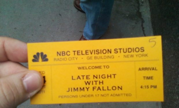 Jimmy Fallon ticket with Roots