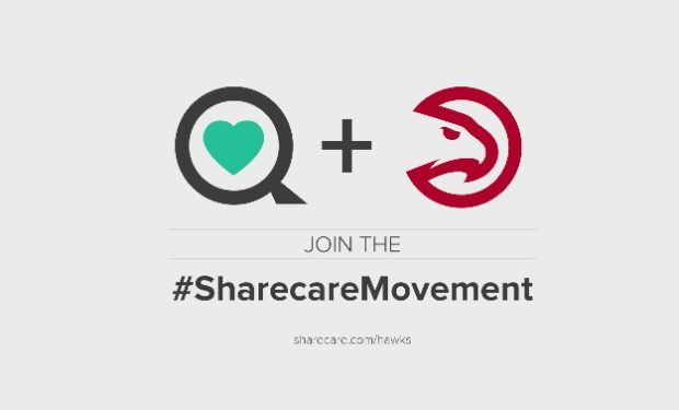 Atlanta Hawks Sharecare Logo Partnership