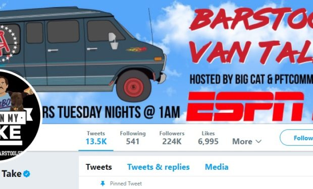 Barstool Van Talk Pardon My Take on Twitter