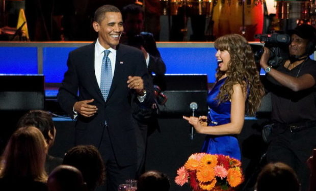 Thalia and Barack Obama