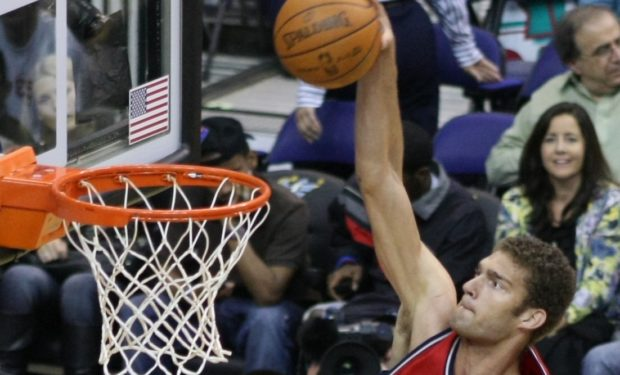 Brook Lopez doing 7-foot stuff, not 3-pointers