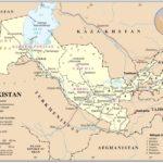 Uzbekistan map public domain