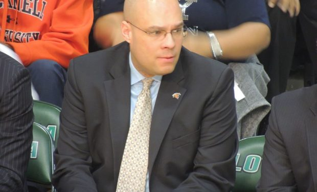 Bucknell Men's Basketball head coach Nathan Davis has won 75% of his games at Bucknell