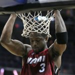 Dwyane Wade of the Miami Heat. His jersey now has an MSD patch.