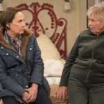 "ROSEANNE - ""No Country for Old Women"" - After Beverly gets kicked out of the nursing home, Roseanne and Jackie fight over who will take care of their mother. Meanwhile, Mark's creative touch with building a birdhouse for Dan's customer is more than Dan can handle, but Darlene defends her son, on the sixth episode of the revival of ""Roseanne,"" TUESDAY, MAY 1 (8:00-8:30 p.m. EDT), on The ABC Television Network. (ABC/Greg Gayne)"
