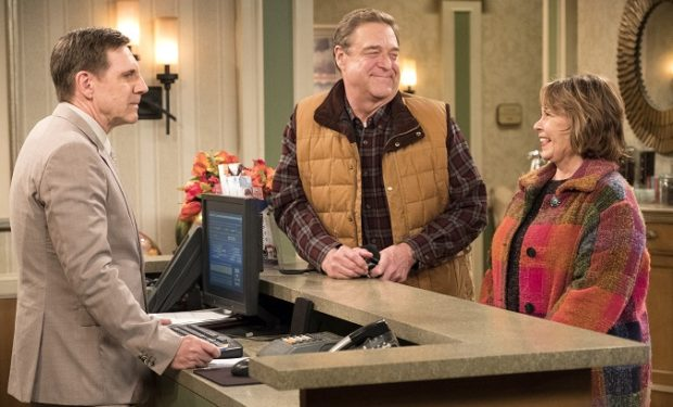 "ROSEANNE - ""Netflix & Pill"" - After celebrating their 45th anniversary, Roseanne reveals to Dan a bigger problem with her bad knee. Meanwhile, Crystal announces her retirement as a waitress at the casino, and Becky and Darlene compete for the job which has full-time benefits, on the eighth episode of the revival of ""Roseanne,"" TUESDAY, MAY 15 (8:00-8:30 p.m. EDT), on The ABC Television Network. (ABC/Adam Rose)"