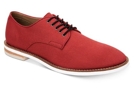 RED Calvin Klein Men's Aggussie Nylon Oxfords
