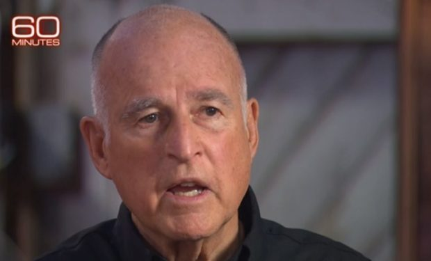 Gov Jerry Brown on 60 Minutes (CBS)
