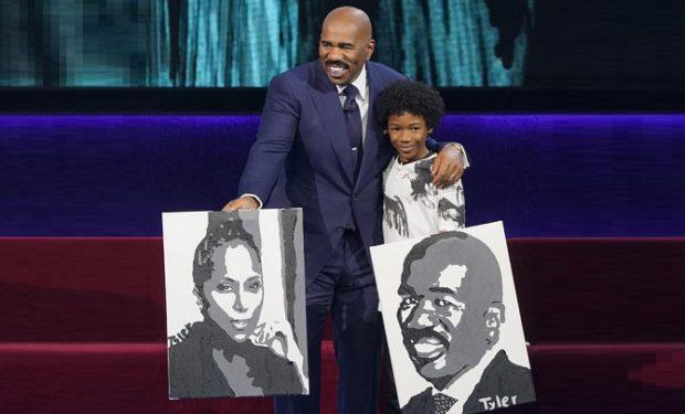 Little Big Shots Painter Tyler Gordon, 12, Was Steve Harvey For ...