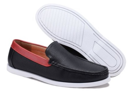 Dream Seek Black Contrast-Panel Loafer