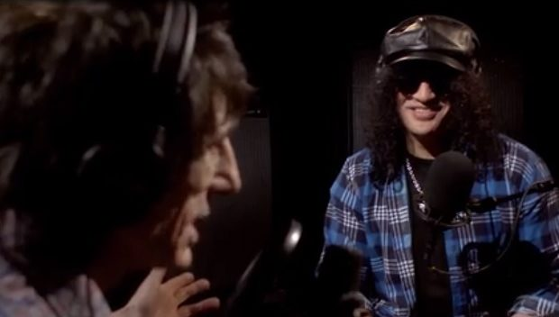Slash on ronnie wood show