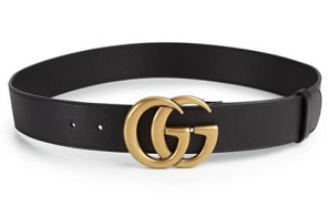 GG Leather Belt by Gucci, $450