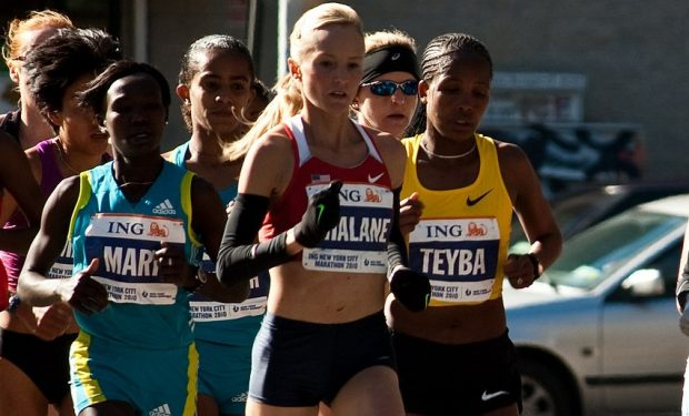 Shalane Flanagan at the NYC Marathon