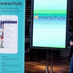 Desiree Vargas Wrigley pitching Pearachute on an Oct. 29 episode of Shark Tank. (Photo via Michael Desmond / ABC)