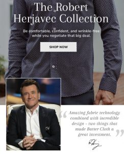 Herjavec Butter Cloth Collection