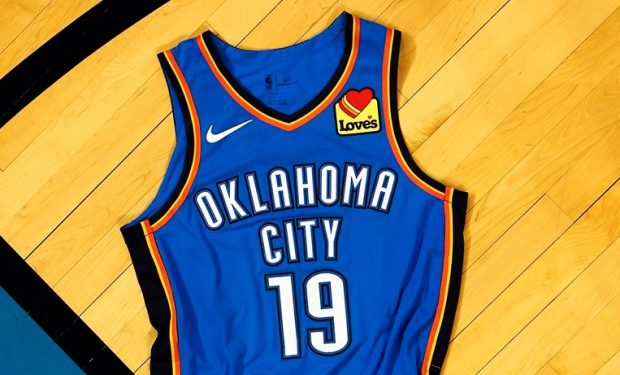 0d1b6a4ba0a2 NBA OKC Thunder Jersey Patch Puts Love s Not Lowe s on Westbrook s Chest