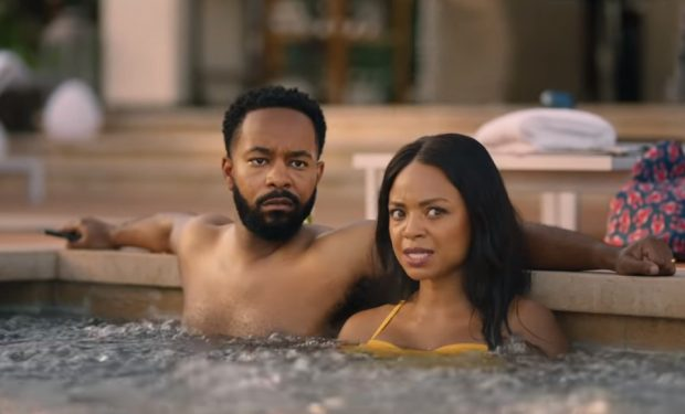 Tyra Colar in Geico Lobster in Hot Tub Commercial